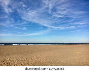 Beach at Seaton Carew, North Sea, Hartlepool, England