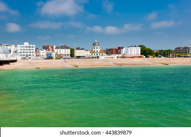 The beach as seen from the Pier at Worthing West Sussex England UK Europe