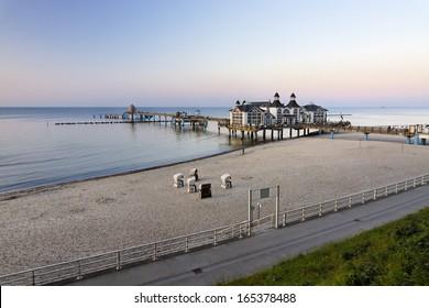 Beach of Sellin, Island of Ruegen, Germany