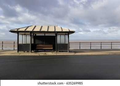 beach shelter on the promenade