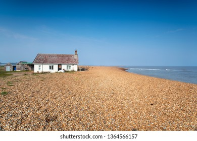 The beach at Shingle Street on the Suffolk coast