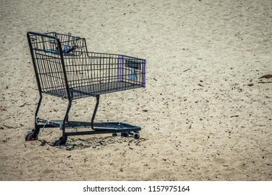 the beach shopping cart