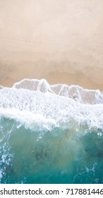 Beach shore from above
