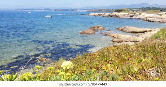 Beach in Six-Fours-les-Plages, Var, France