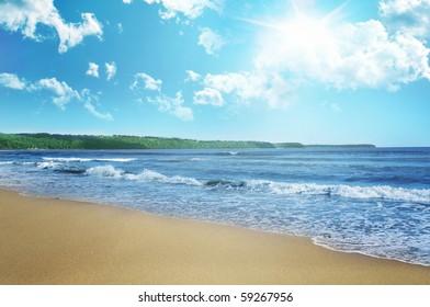 Beach and sky