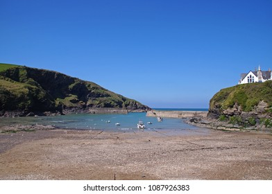 The beach and also the small harbour i the small village, Port Isaac in Cornwall, England
