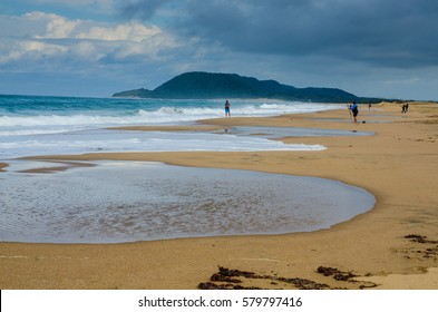 The beach in St Lucia, KwaZulu-Natal, South Africa.