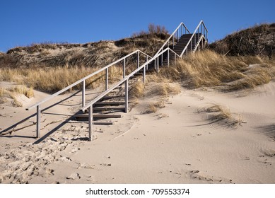 Beach stairs in Neringa, Lithuania