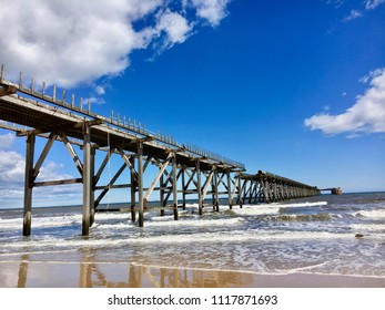Beach at Steetley Pier, Hartlepool, North East England