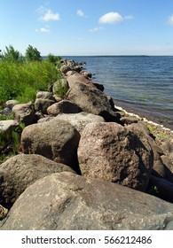 beach stone water baltic sea