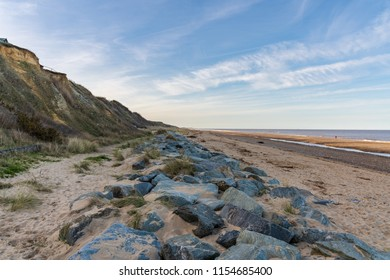 The beach and stones of California, near Caister-on-Sea, Norfolk, England, UK