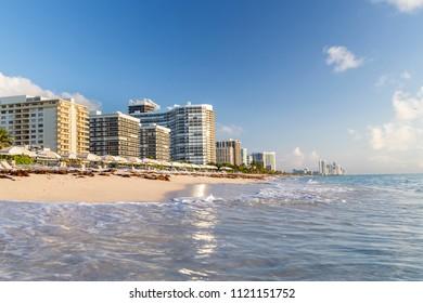 A beach in Sunny Isles. Miami, Florida