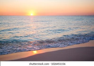 Beach Sunrise in Cancun Mexico