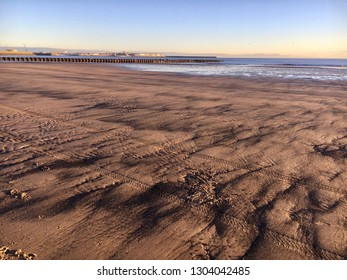 Beach Sunrise, North Sea, Hartlepool and Seaton Carew, England