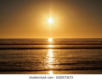 Beach at sunset, La Serena, Coquimbo Region, Chile