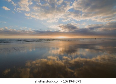 Beach sunset in Northland, New Zealand