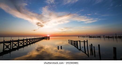 Beach sunset on Long Beach Island, NJ