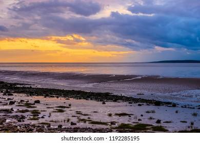 Beach sunset sky