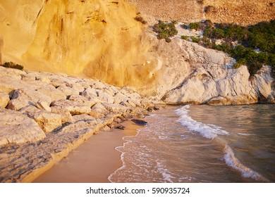 beach sunset in Spain