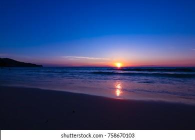 beach sunset or sunsrise at Kata Noi Beach Phuket Thailand