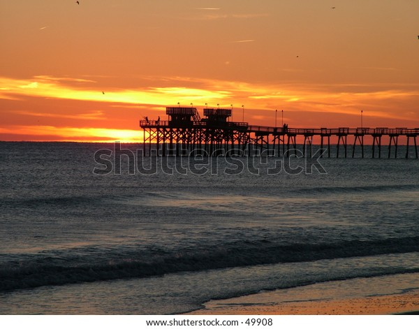 Beach Sunset taken on NC coast during November