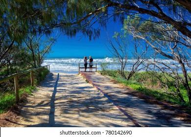 The beach at Surfers Paradise, Queensland, Australia