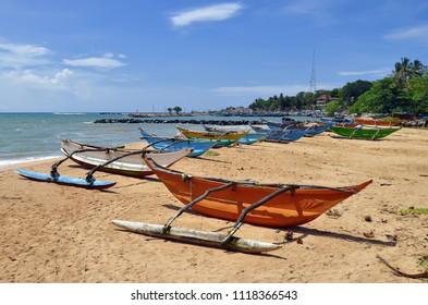 The beach of Tangalle, Sri Lanka.