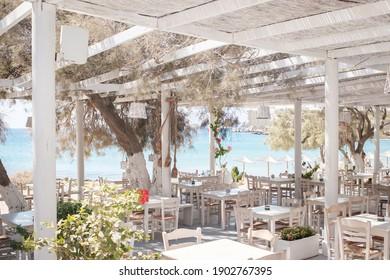 Beach Tavern Bar Ios Island Cyclades Greece