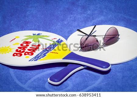 6a23dec1f88 Beach Tennis Rackets Sunglasses Stock Photo (Edit Now) 638953411 ...