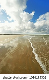 Beach in Terschelling island, Wadden Sea, The Netherlands