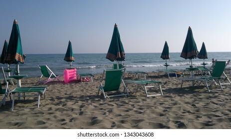 Beach in Toscany, Italy. July 2011