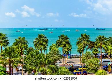 The beach town