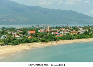 beach in the town of Lang Co in vVetnam.