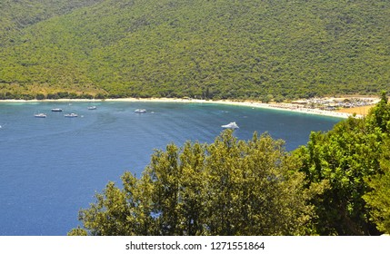 The beach the town of Sami is known for is Antisamos, featured in Corelli's Mandolin and one of the finest beaches in Greece.