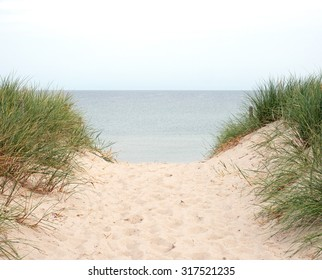 Beach transition to the Baltic Sea Germany