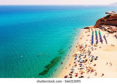 Beach in Tropea, Calabria, Italy