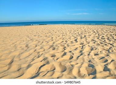 beach and tropical sea at sunny day
