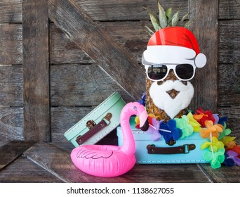 Beach / tropical vacation background for the christmas holidays