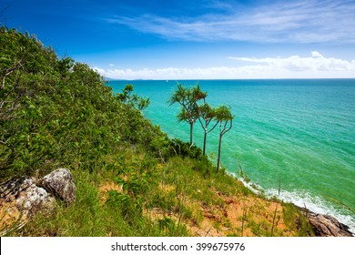 Beach and tropical vegetation from the lookout, Port Douglas, Australia