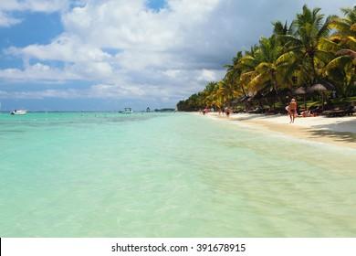 Beach Trou aux Biches, Mauritius