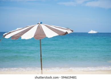 beach umbrella at the beach.