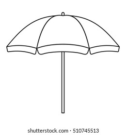 Beach umbrella icon. Outline illustration of beach umbrella  icon for web