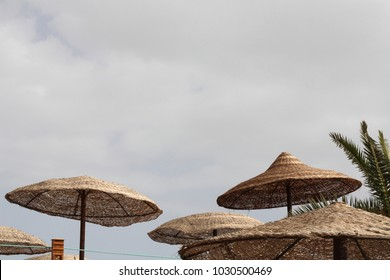 Beach umbrellas, Egypt, Sharm El Sheikh