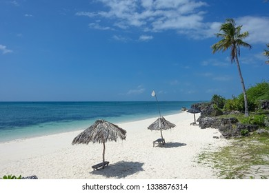 Beach Umbrellas on Exotic Bantayan Island - Cebu, Philippines