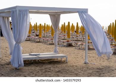 Beach Umbrellas on Jesolo Beach