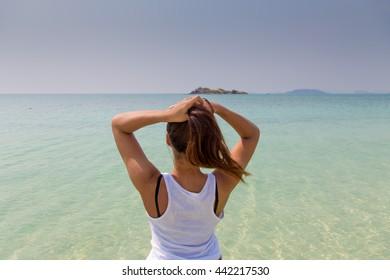 Beach Vacation Hot Beautiful Asian Woman Stock Photo (Edit ...