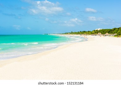 The beach of Varadero in Cuba on a beautiful summer day