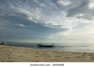 beach view with the boat, Phu Quoc Island, Vietnam