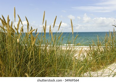 Beach view at the Danish west-coast