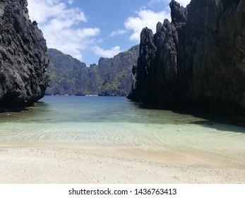 Beach View at El Nido Palawan Philipines